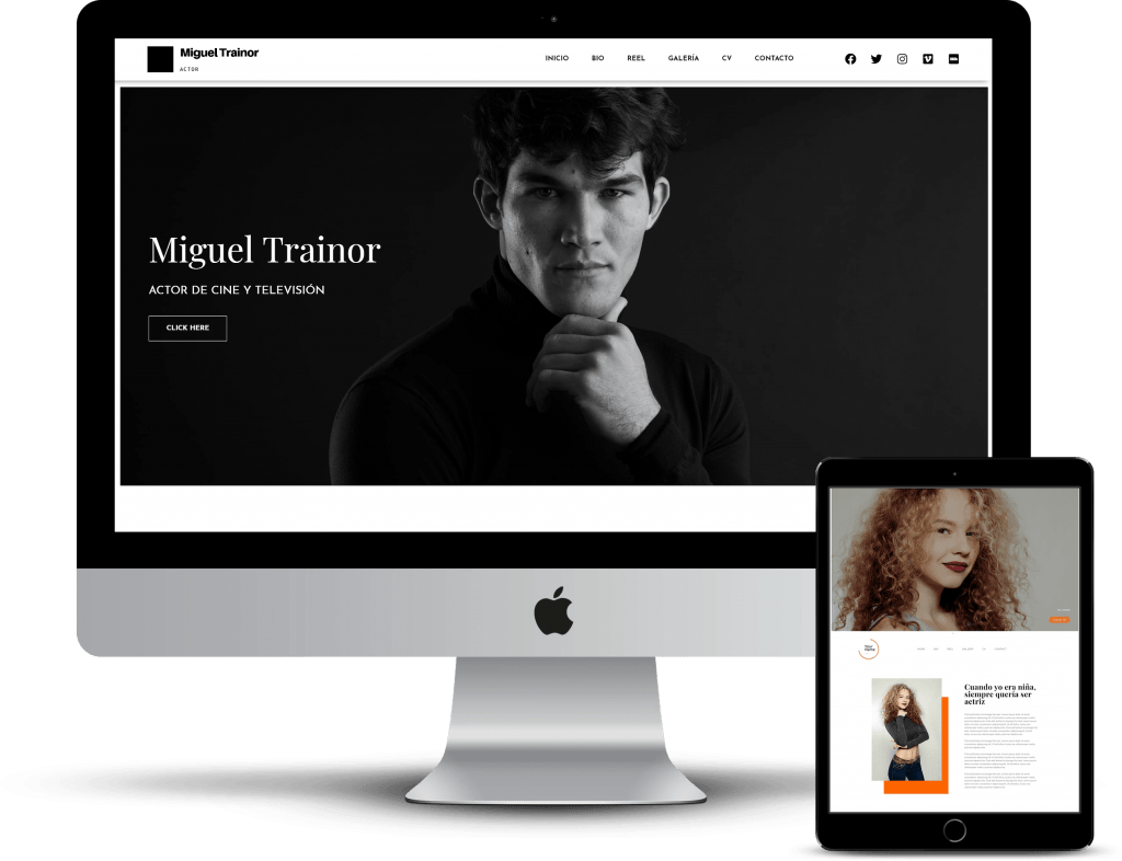 web para actor en 72 horas